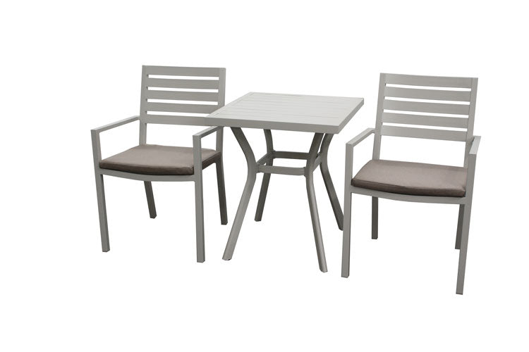 Trieste 3pc Bistro Setting- Dove