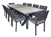 Trieste Justin 11pc Extension Table - robcousens Outdoor Furniture Factory direct
