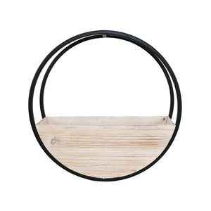 Circle Wall planter white wash Large
