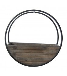 Circle Wall planter Brown Small - robcousens Outdoor Furniture Factory direct