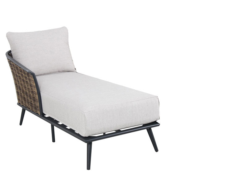 Verona Chaise Lounge Left with cushions