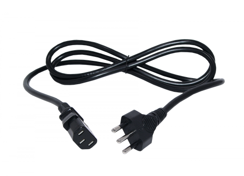 Cable Poder Negro C13 Hembra Chile   6A 1.5Mt