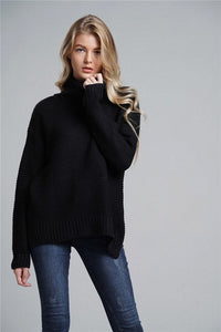 Fitshinling Fashion Woman Winter Sweater Knitwear Hot Sale 6 Colors Solid Women's Turtleneck Sweaters And Pullovers Jumper Sale
