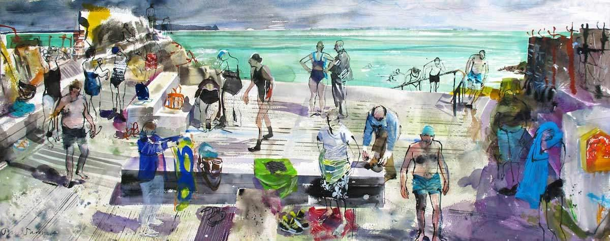 Spring Swim - John Short Irish Visual Artist