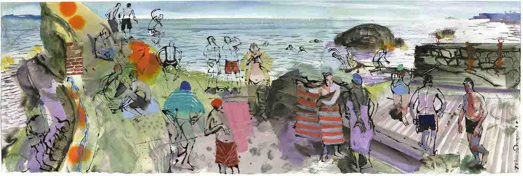 Summer Swim Colourful For Sale - John Short Irish Visual Artist