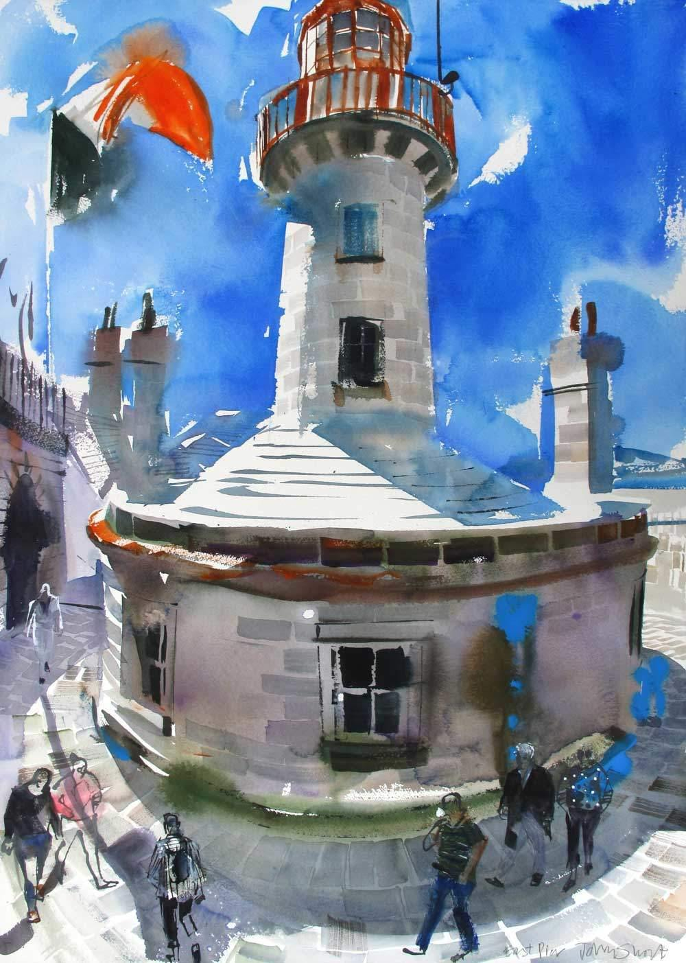 Dun Laoghaire Lighthouse - John Short Irish Visual Artist
