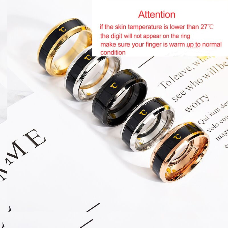 Temperature Ring Titanium Steel