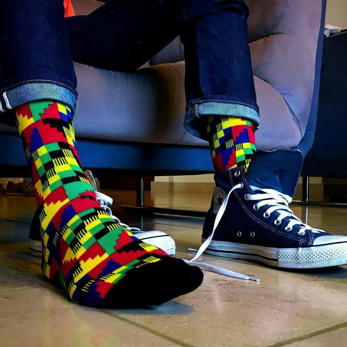 Afrisocks Dumsor Kente Socks - Ethnic District