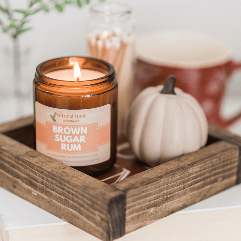 NaturalAnnie Essentials Brown Sugar Rum Candle - Ethnic District