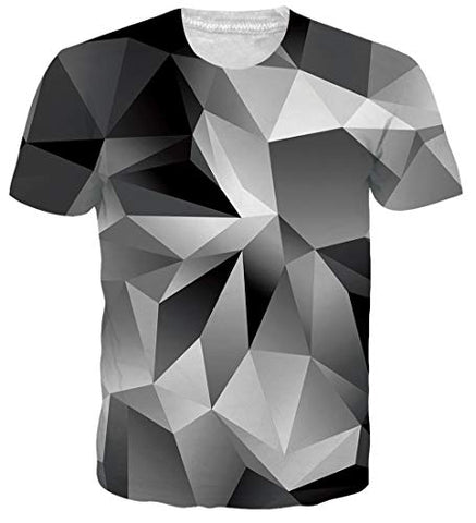 Men 3D Short Sleeve Tee Cool Graphic Tees Printed Short Sleeve t-Shirts
