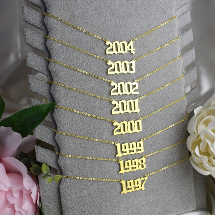 Birth Year Pendant Necklace