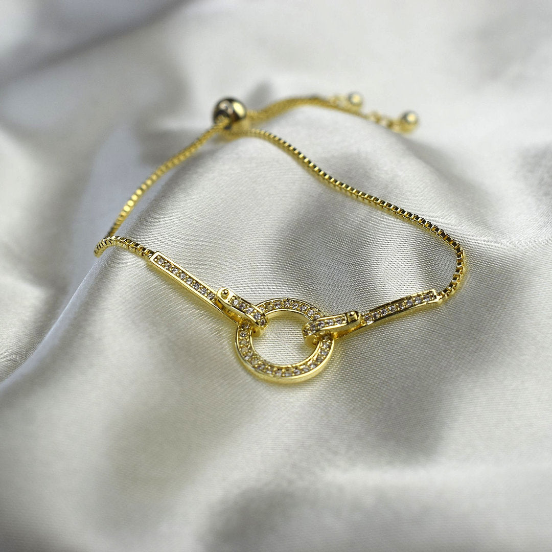 Angela Circle Bracelet Gold