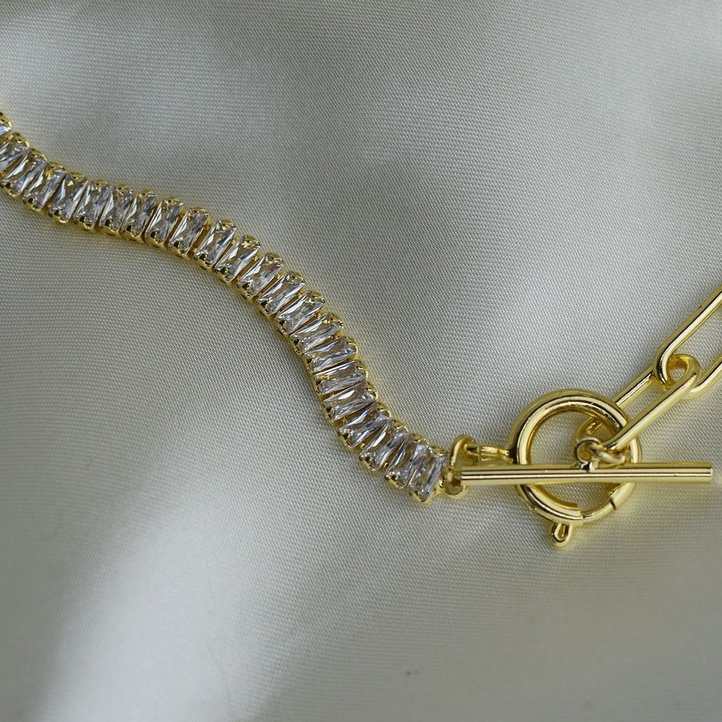CZ T-Bar Necklace