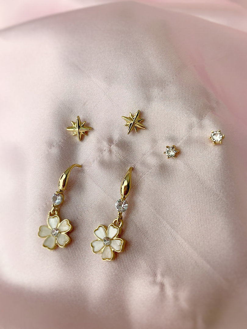 Flower Earring Set