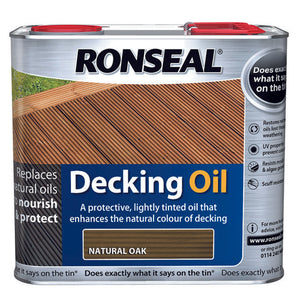 Ronseal Decking Oil 2.5L Natural Oak
