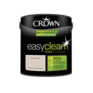Crown Easyclean Matt Emulsion White Pepper 2.5L