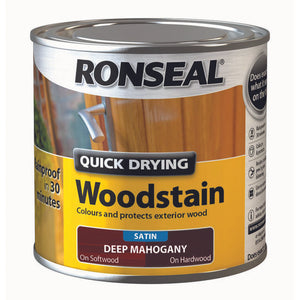 Quick Drying Woodstain 250ml Deep Mahogany