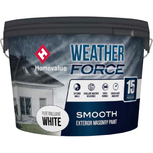 Homevalue Weatherforce Paint 10L White
