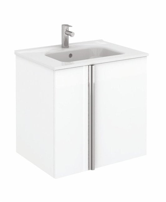 Sonas Avila White Wall Hung 60cm Vanity Unit and Slim Basin