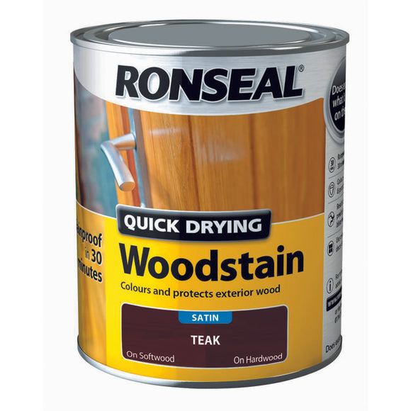 Quick Drying Woodstain 750ml Teak