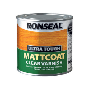 Ronseal Ultra Tough Varnish 250ml Matt Coat