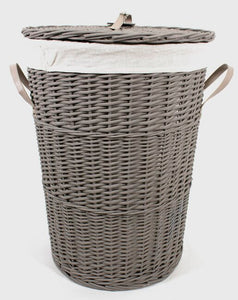 Round Hamper With Liner and Lid Small