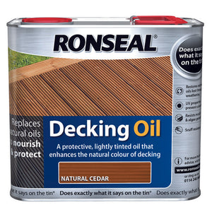 Ronseal Decking Oil 2.5L Natural Cedar