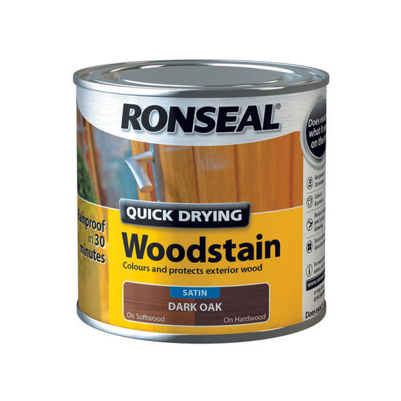 Quick Drying Woodstain 250ml Dark Oak