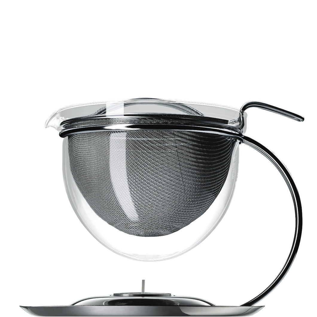 Filio Teapot with Integrated Warmer, 50oz