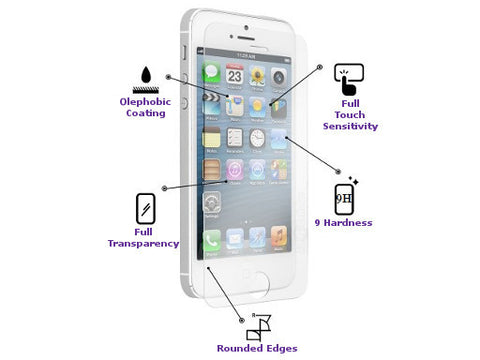 Premium Tempered Glass Screen Protector For iPhone 5 / 5S