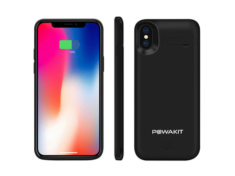Powakit 5000mAH Battery Case For iPhone X / XS
