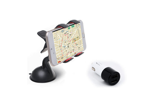 iPhone Car Dock / Mount with USB Car Charger Adapter