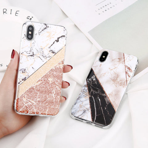 Glossy Marble Protective Case for iPhone