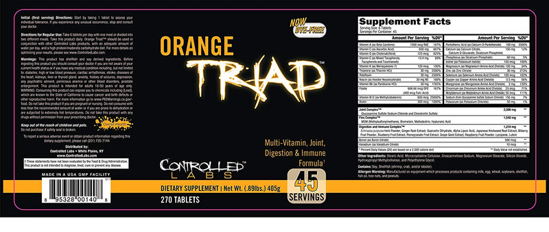 Orange Triad | 45 servings