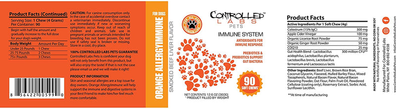 Pets Orange AllergyImmune for Dogs | 90 ct