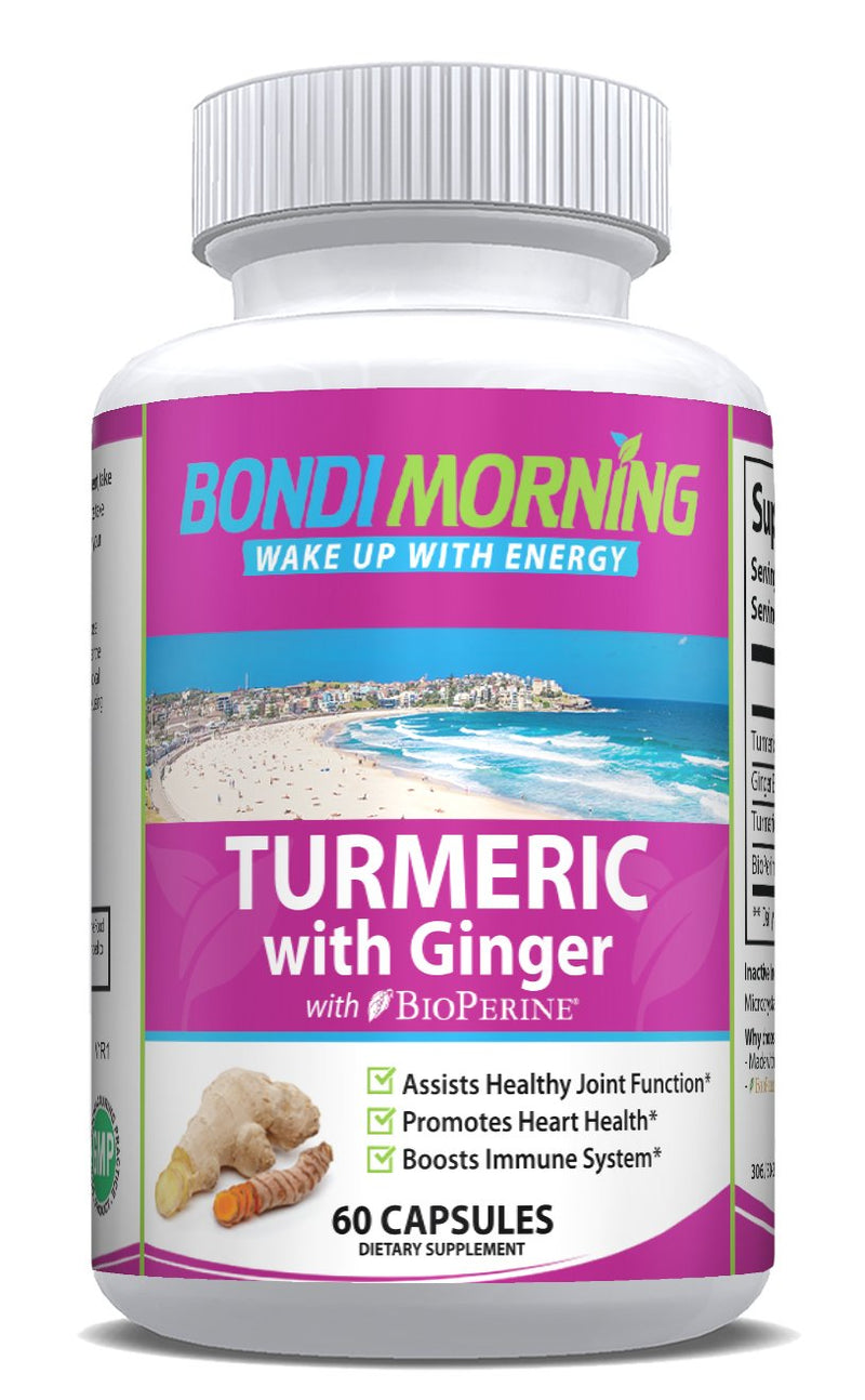 Turmeric with Ginger Supplement | 60 Capsules