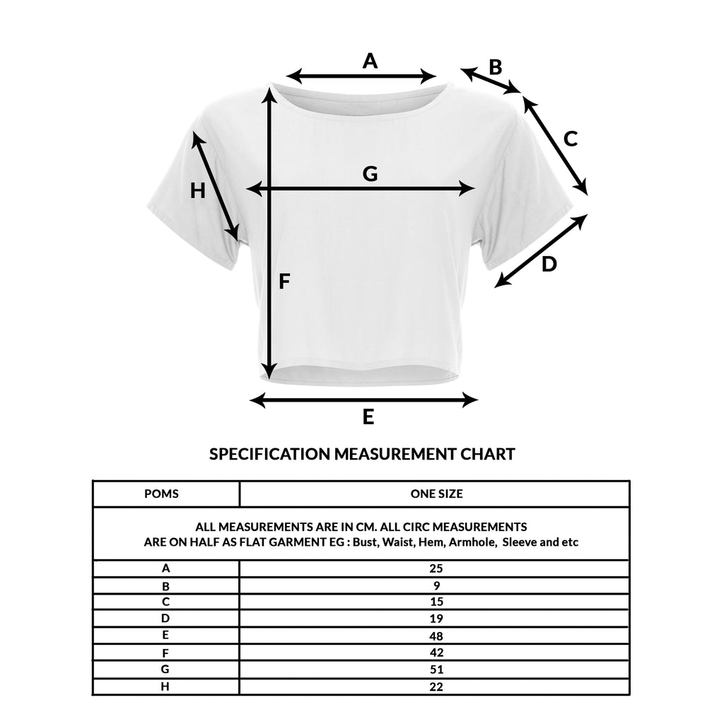 size guide girl top crop basic