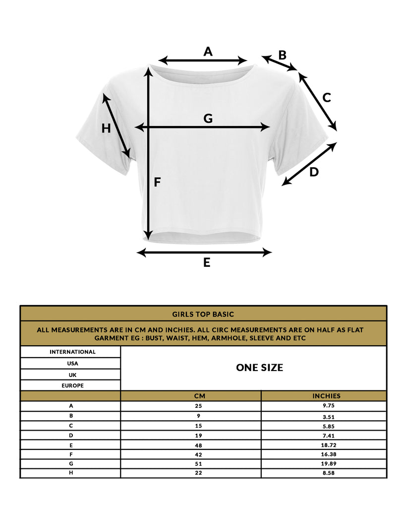 love anchor size guide girls top crop basic