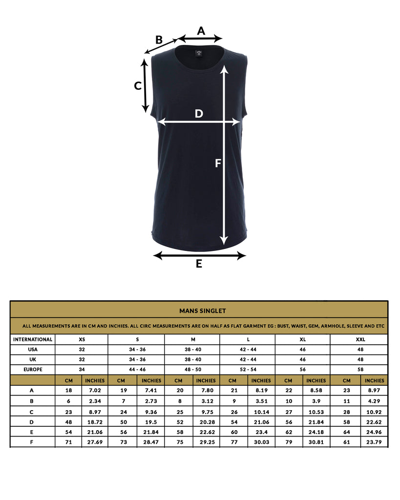love anchor size guide mans top singlet