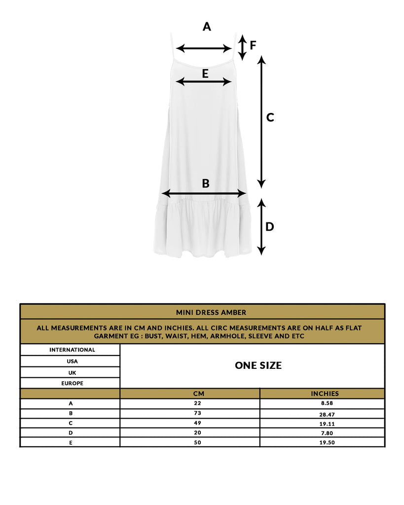love anchor size guide mini dress amber
