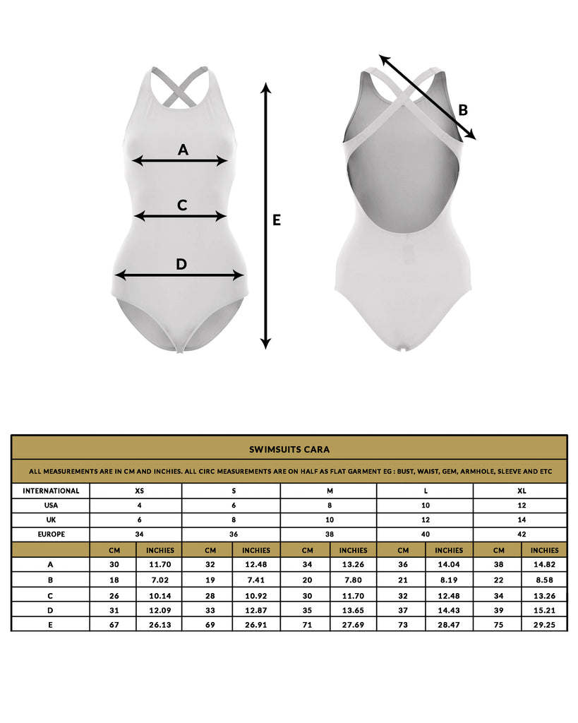 love anchor size guide swimsuit cara