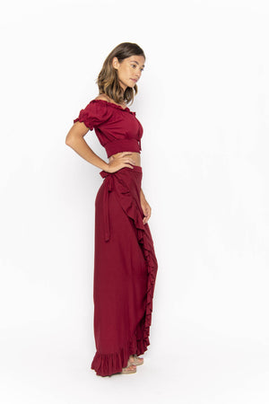 clothing wholesale, tops, wholesale, women wholesale Cropped March, Plain, Eco Rayon, Off  The Shoulder, Short Sleeved Top, Wholesale