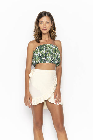 tops, womens Cropped, Tropical, Eco Rayon, Tube Top