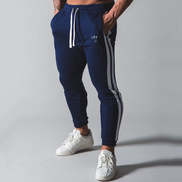 Cotton Joggers Pants Men Casual Skinny Sweatpants Autumn Running Trousers Male Track Pants Gym Fitness Training Sports Bottoms