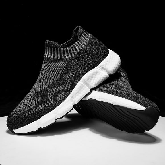 2020 Mens Casual Shoes Men Slip-on Sock Sneakers Breathable Light Leisue Walking Jogging Running Tenis Masculino Adulto