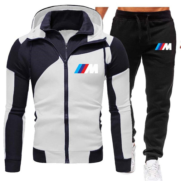 2020 Men's Sets Brand Sportswear Tracksuits Sets Men's Zipper Sporting Hoodies+Pants Sets casual Outwear sports Suits men Hoodie