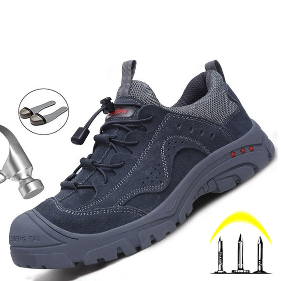 High Quality Work Shoes Steel Toe Safety Shoes Men Work Boots Puncture-Proof Men's Boots Safety Construction Work Sneakers 36-48