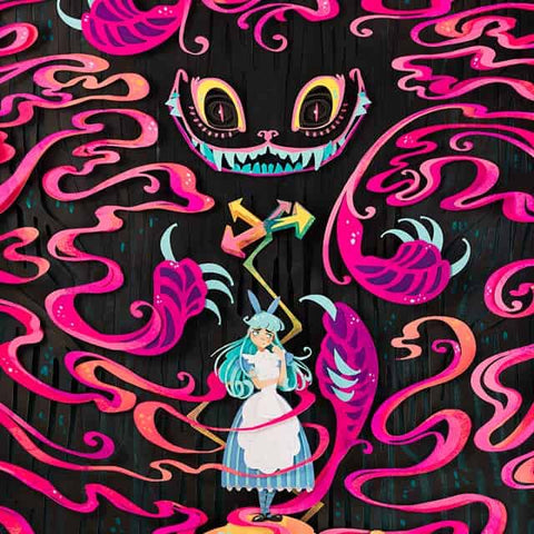 A Mad Grin - Alice in Wonderland Papercraft Print