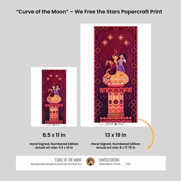 Curve of the Moon - We Free The Stars Papercraft Print