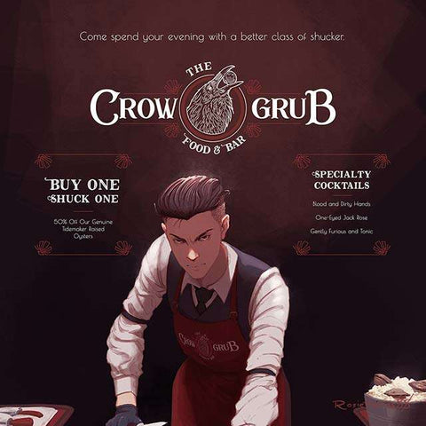 Welcome to the Crow Grub - Ad Parody Print
